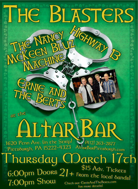 The Blasters - Thu. March 17th, 2001 @ The Altar Bar!
