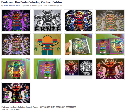 Ernie and the Berts Coloring Contest Entries (So far…)