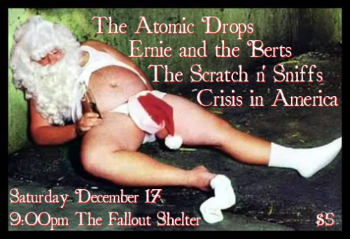 Sat. Dec. 17th, 2011 at the Fallout Shelter!